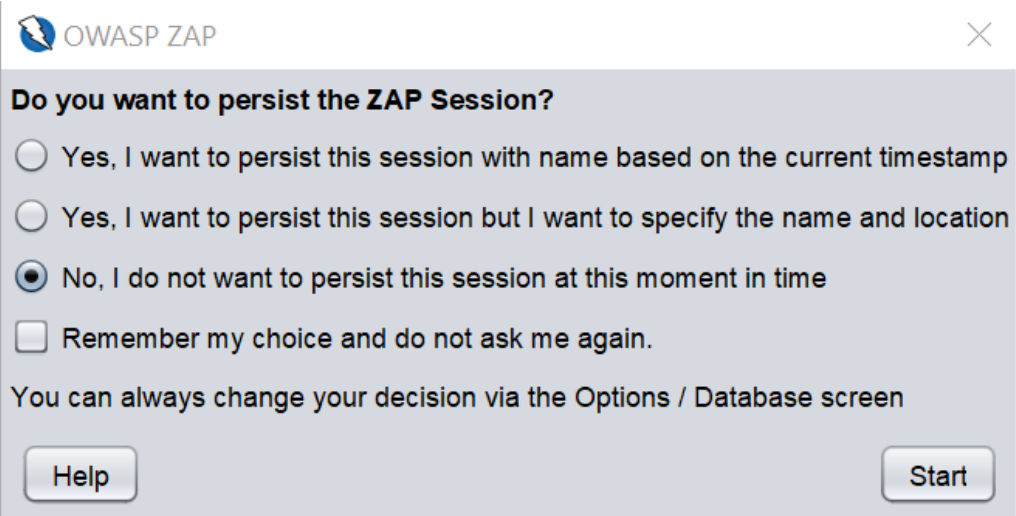 OWASP Zap session